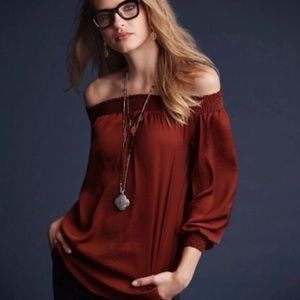NWT CAbi off the shoulder blouse
